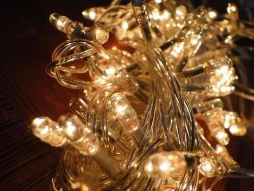 Luces navidad led x100 luces c lidas 9 metros cable - Luces led calidas ...