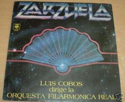 luis cobos zarzuela orquesta filarmonica  vinilo argentino