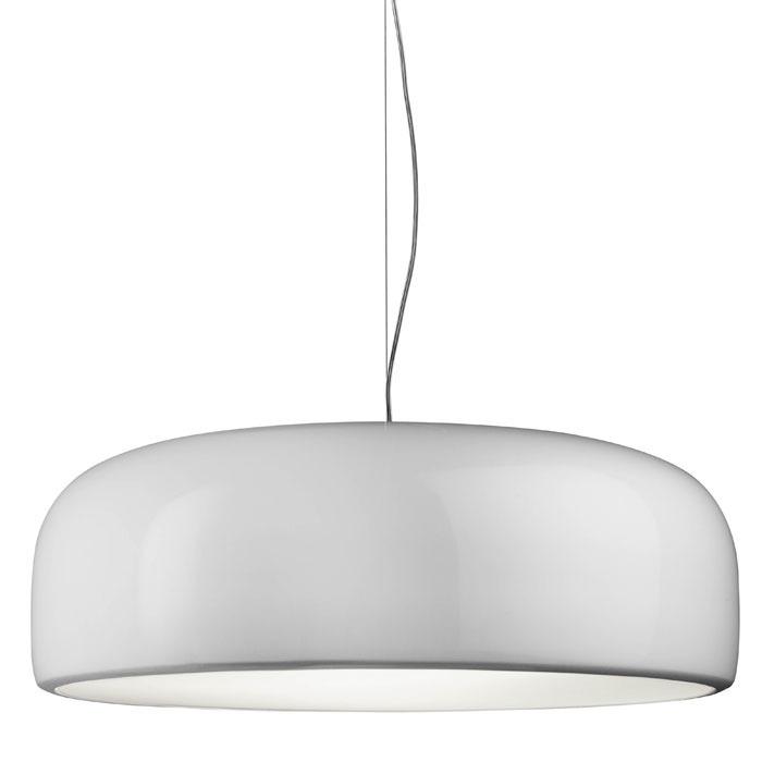 Luminaria Colgante 60cm Blanca Con 3 Lámparas Led
