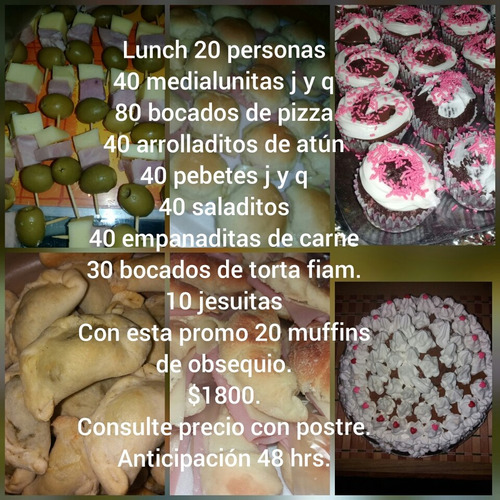 lunch 10 personas