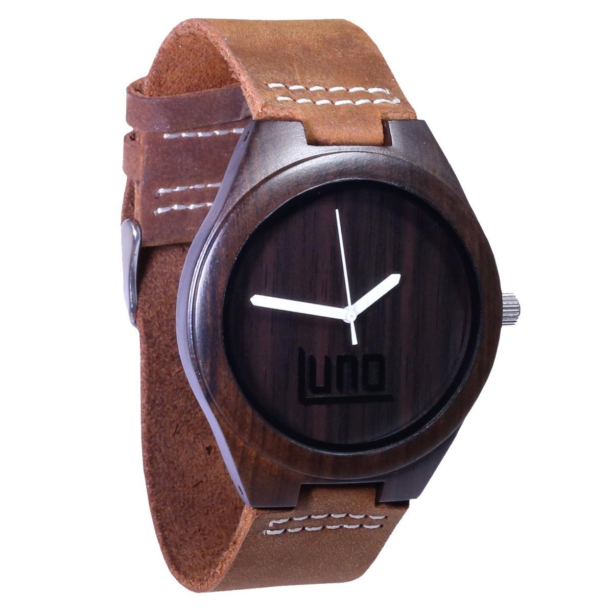 94eb8929548f Luno Wear Reloj De Madera Para Hombres