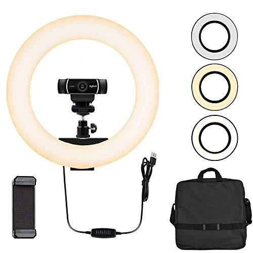luz de cámara web, luz de anillo para logitech webcam c920,
