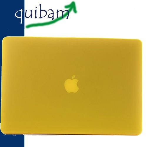 macbook pro retina 13 carcasa protector case amarillo mate
