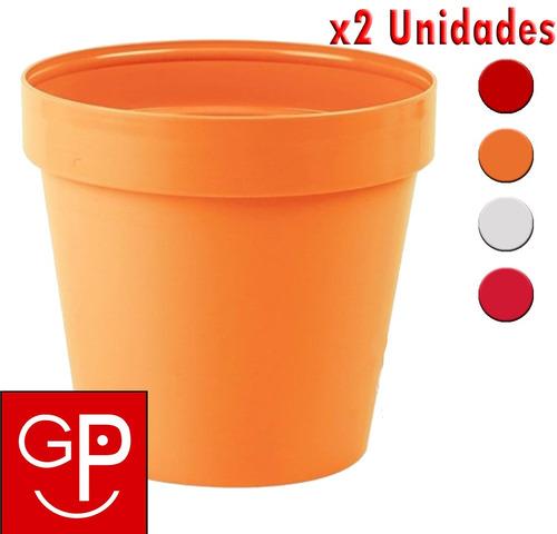 maceta 25cm italy colores varios classic idel x2 unid. g p