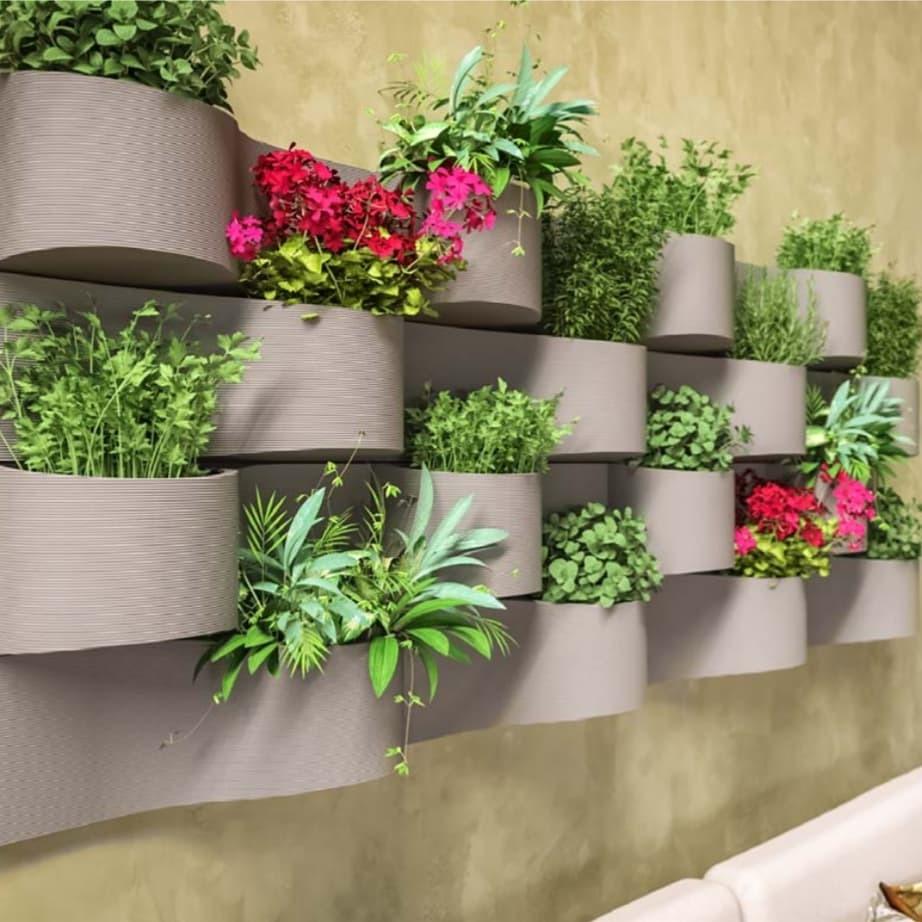 Maceta de colgar para pared o muro x 2 unidades en mercado libre - Macetas para pared ...