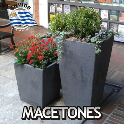 Macetas taca piramidales de hormigon para jardin e interior 950 00 en mercado libre - Macetas de jardin ...