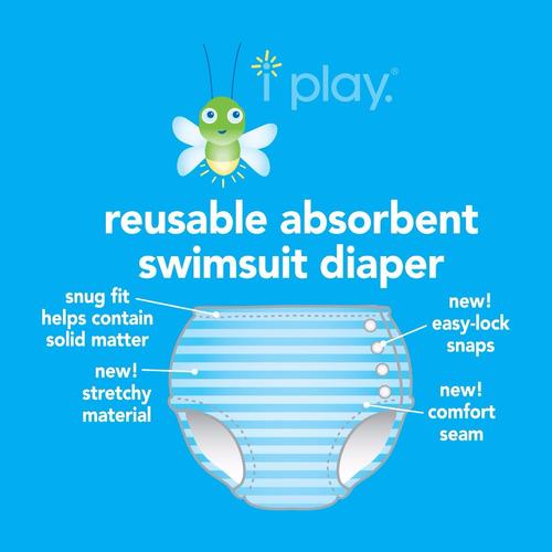 malla bebe con pañal y filtro uv iplay