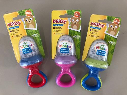 malla de alimento para bebe nibbler nuby