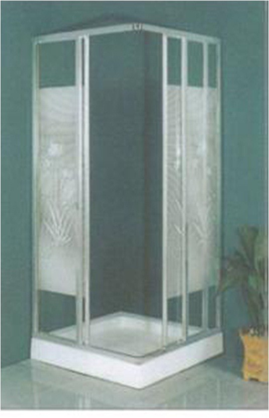 Mampara de ducha de fibra de vidrio cabina 80x80 u s 356 00 en mercado libre - Cabinas de duchas de bano ...