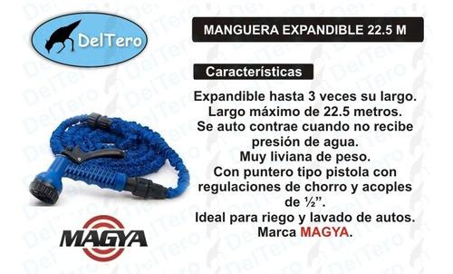 manguera extensible hasta 22.5 metros puntero calidad magya