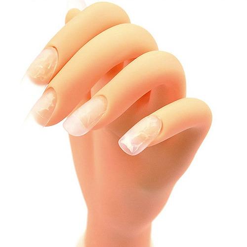 mano para practica manicuria arte en uñas esculpidas y mas