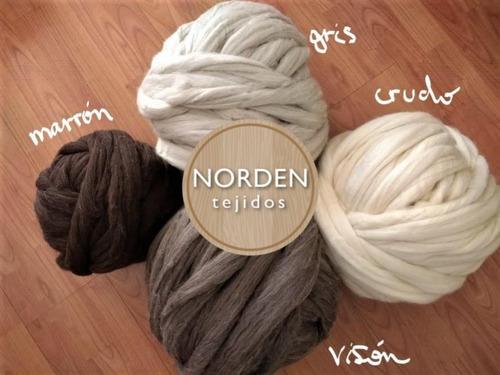 manta nordica de vellon de lana gigante  envio gratis