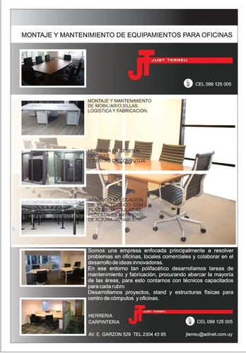mantenimiento y reparación de equipamiento de oficinas.