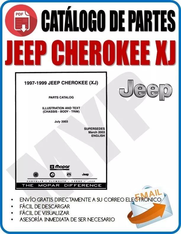 Manual Catalogo De Partes Cherokee Xj 97 99myp 250 00 En Mercado