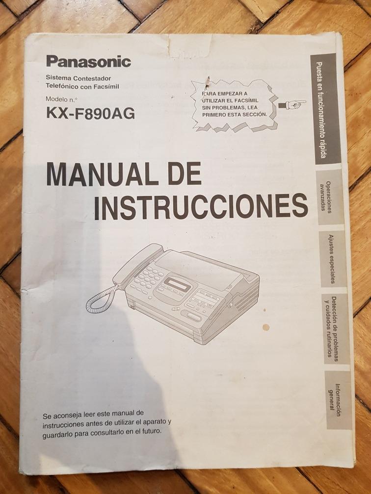 manual de instrucciones panasonic panasonic fax de kf f890ag 50 rh articulo mercadolibre com ar manual de instrucciones panasonic dmc fz48 manual de instrucciones panasonic kx-tg2511sp