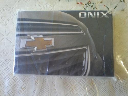 manual de propietario auto chevrolet onix