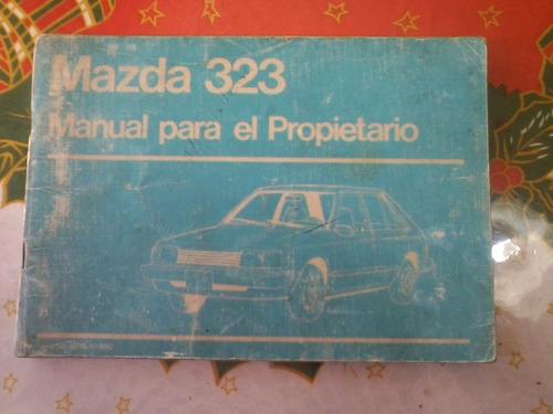 manual de propietario auto mazda 323