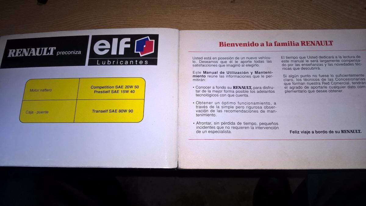 manual de usuario renault 9 11 250 00 en mercado libre rh articulo mercadolibre com ar manual del usuario renault clio 99 manual de usuario renault 9 pdf