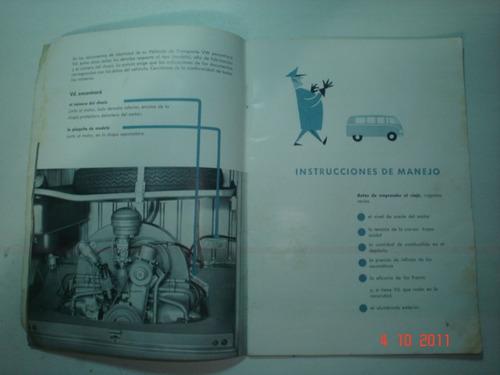manual kombi 1954 a 59 vw volkswagen furgão perua camioneta