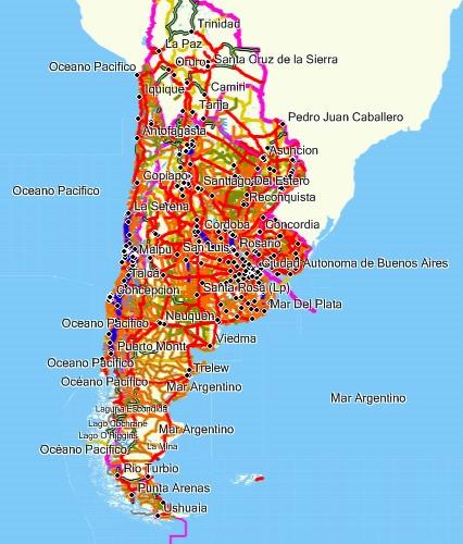 mapa mercosur y radares para gps garmin serie nuvi y drive