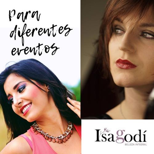 maquillaje y peinado www.isagodi.com.uy