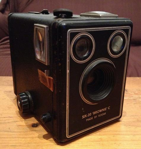 máquina de fotos antigua