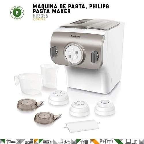 maquina de pasta philips pasta maker hr2355  - fama