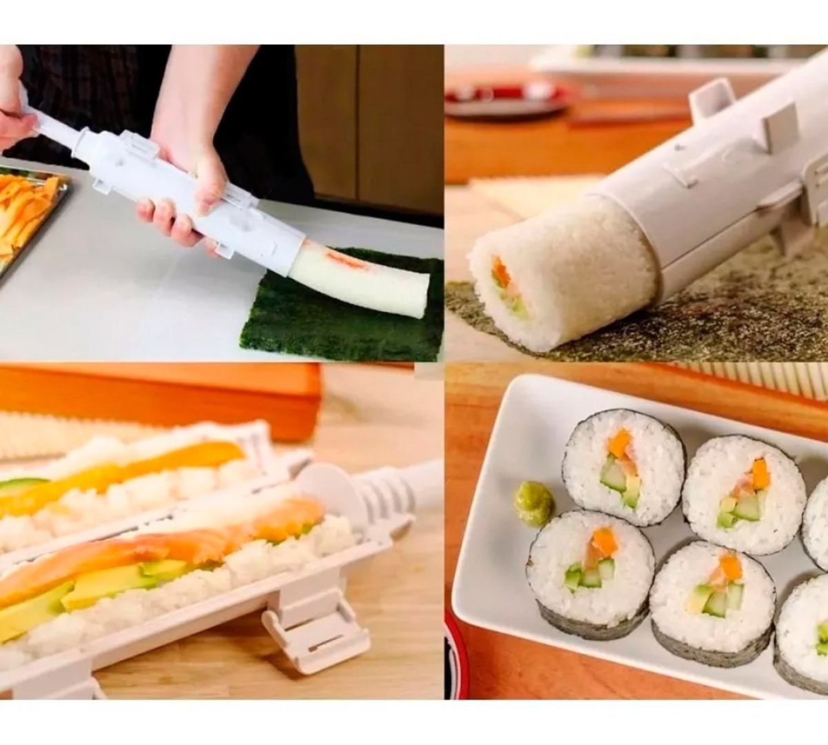 Maquina Para Hacer Sushi Maker Bazooka Practica Fácil Oy