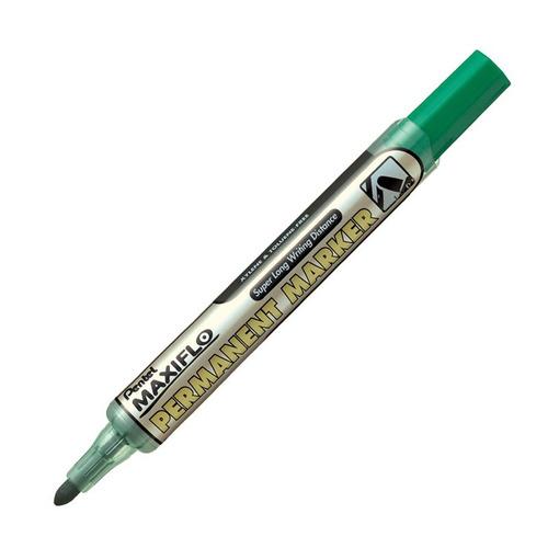 marcador permanente pentel maxiflo - verde - mosca
