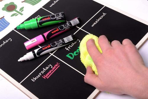 marcador uni chalk tiza liquida pwe punta de 8mms.