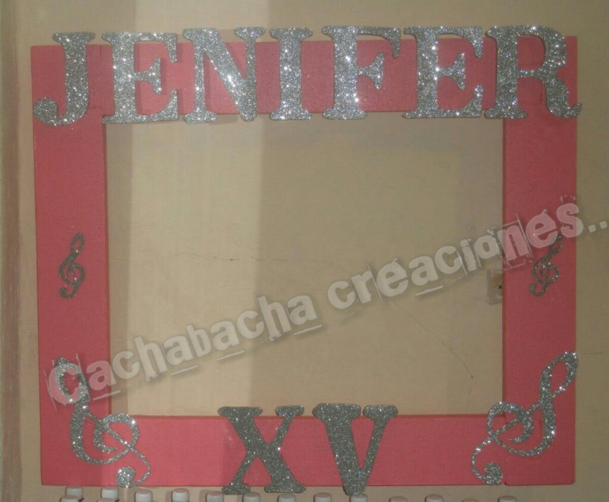 Marco Letras Decoradas Espuma Plast Para Fotos 15 Años - $ 450,00 en ...