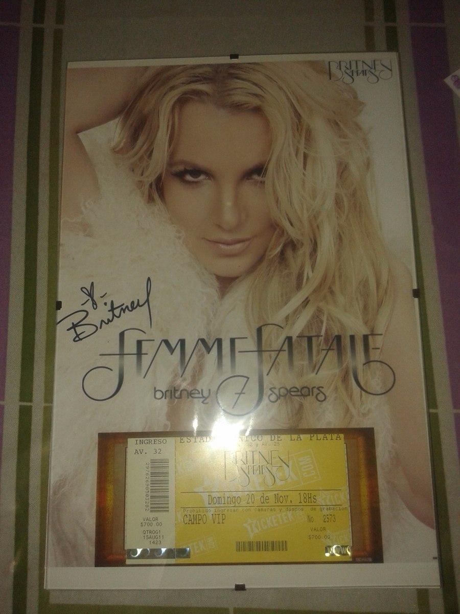 Marco Para Tu Entrada Britney Femme Fatale Tour - $ 300,00 en ...