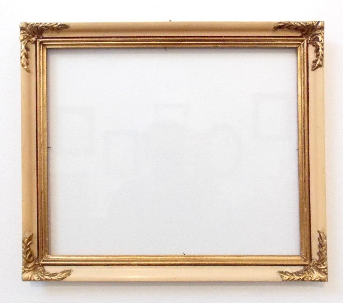 Marcos antiguo foto cuadro espejo 35x29 550 00 en mercado libre - Marcos transparentes ...