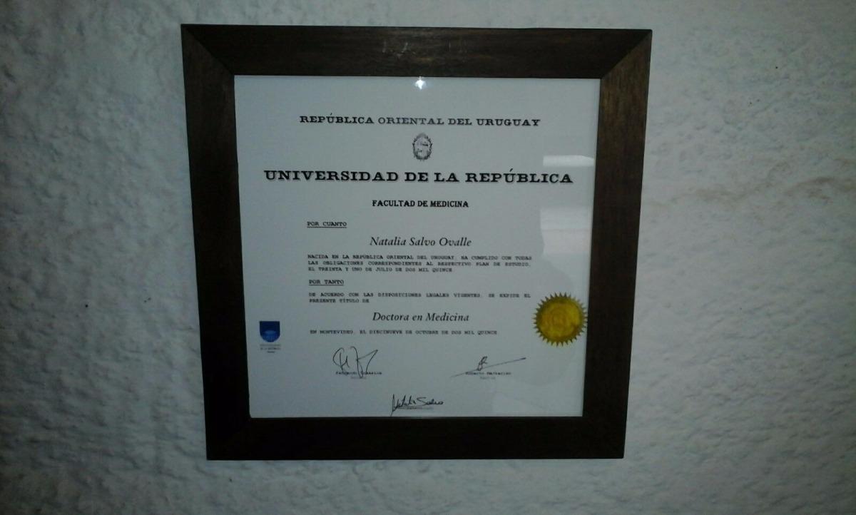 Marcos Para Diplomas ( Udelar ) - $ 550,00 en Mercado Libre