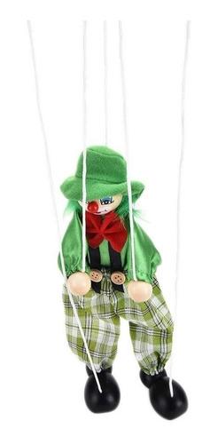marioneta payaso  / juego didactico madera