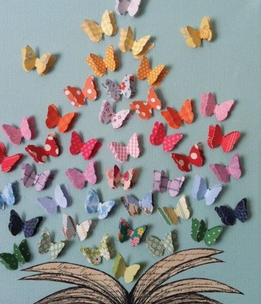 Mariposas Decoración Pared Goma Eva Cartulina Papel X 50