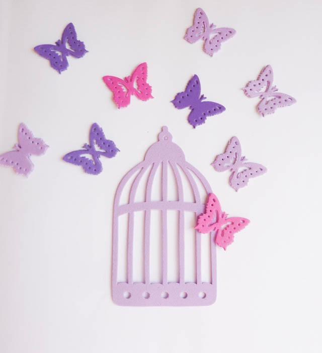 Mariposas Formas En Goma Eva Decoracion Violeta Elija Color