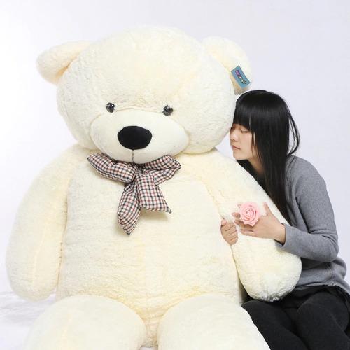 marron beige blanco 1,5 m oso peluche 150cm  aprox peluche