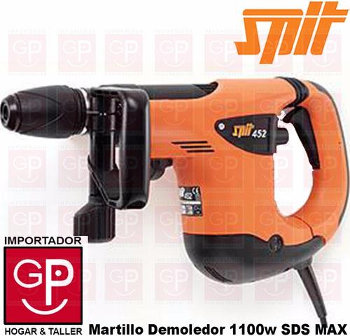 martillo demoledor 1100w 11 joules sds max spit 452
