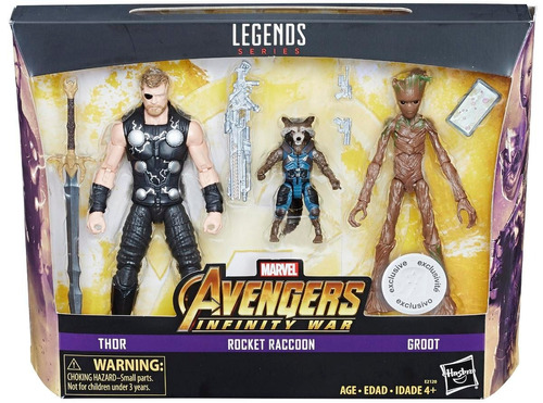 marvel legends infinity war thor rocket groot toyus r us