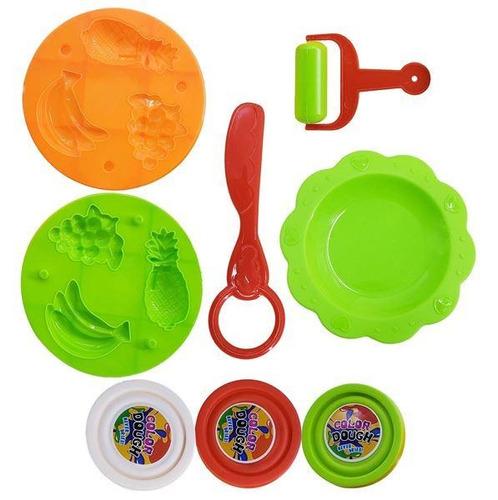 masa para moldear con accesorios en caja para niños