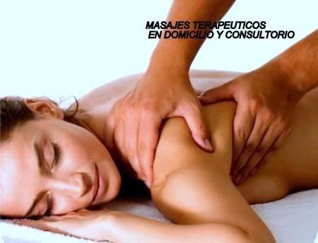 masaje descontracturante en domicilio y consultorio
