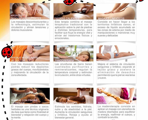 masajes reductores,drenaje linfático,descontracturantes