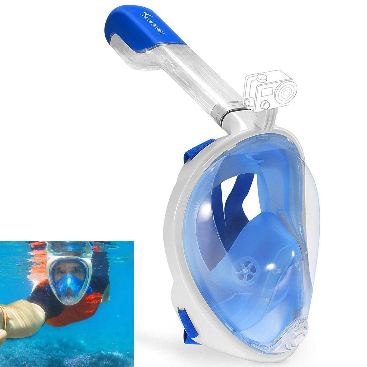 c29a33781 máscara de snorkel de cara completa sportneer 180 (l   xl. Cargando zoom.