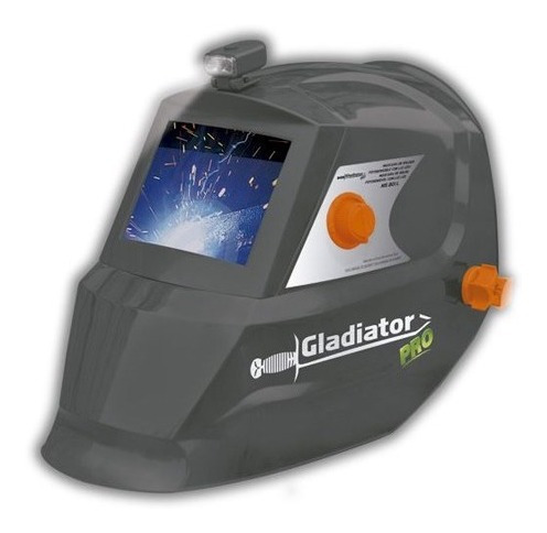 máscara de soldar fotosensible luz led gladiator pro ms801l