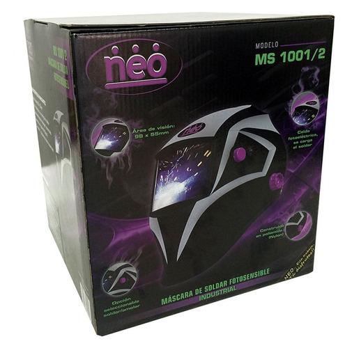 máscara de soldar fotosensible neo - ms1001/2