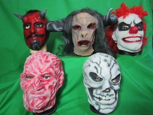 mascara en látex - halloween variadas.