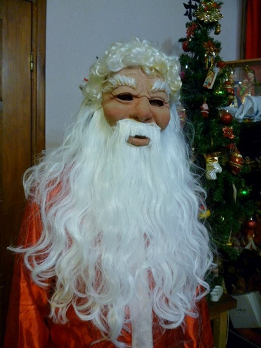 mascara en latex. papa noel.