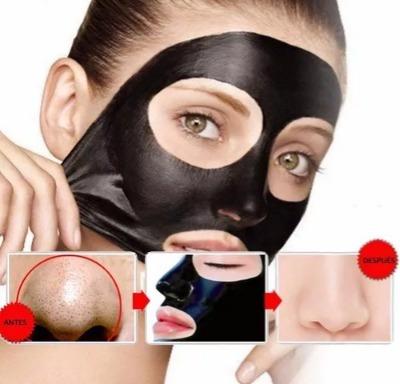 mascara facial negra elimina puntos negros, acne