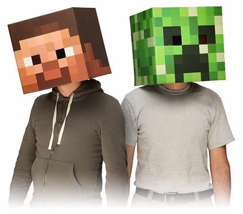 mascaras de minecraft creeper o steve xuruguay